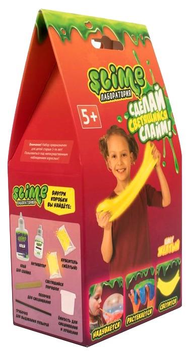 Купить Набор для девочек малый Slime Лаборатория , желтый, 100 гр., Фабрика игрушек, Наборы для опытов