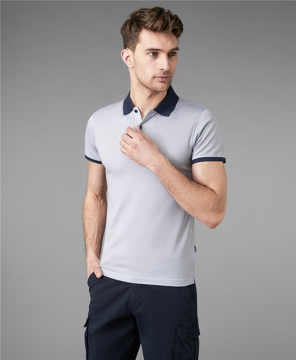 Рубашка мужская HENDERSON HPS-0276 голубая XL фото