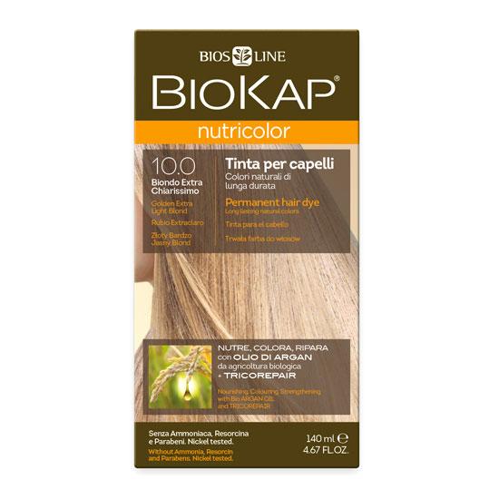 Краска для волос BIOKAP «Золотистый очень светлый блондин» тон 10.0, 140 мл