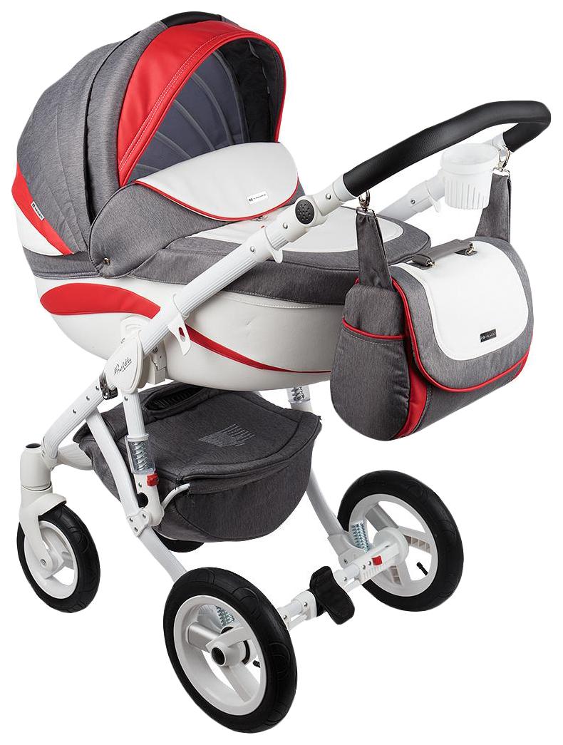 Купить Коляска 2 в 1 Adamex Barletta New B-21 цвет серо-красный, Детские коляски 2 в 1