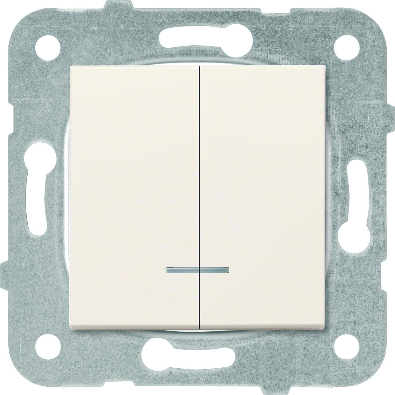 Выключатель 2кл с подсветкой крем Karre Plus