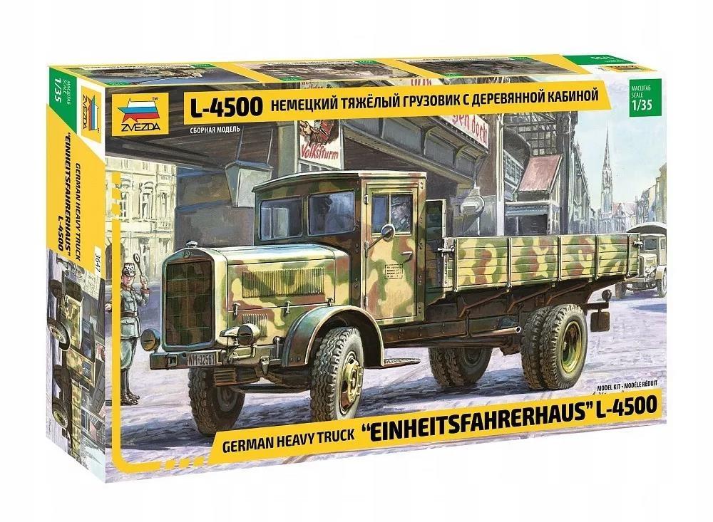 Купить Сборная модель Звезда Немецкий тяжелый грузовик L 4500 масштаб 1:35, ZVEZDA, Модели для сборки