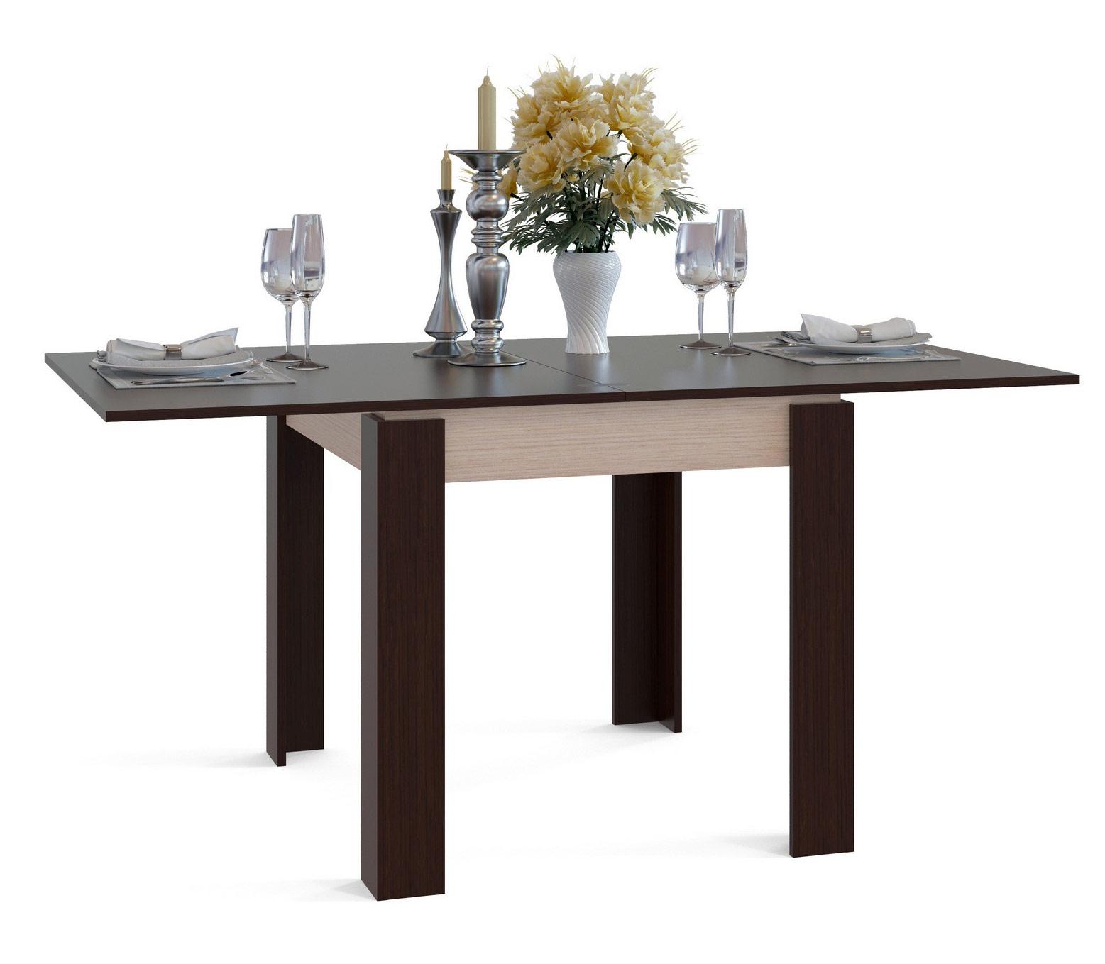 Кухонный стол Сокол СО-2 белёный дуб/венге, 160х90х76 см фото
