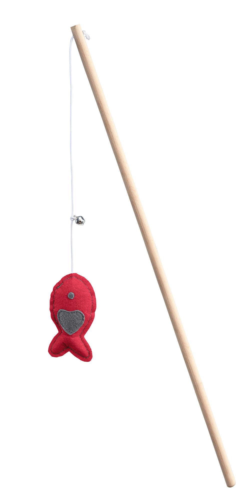 Игрушка для кошек HUNTER Дразнилка рыбка, текстиль, красная/зеленая фото