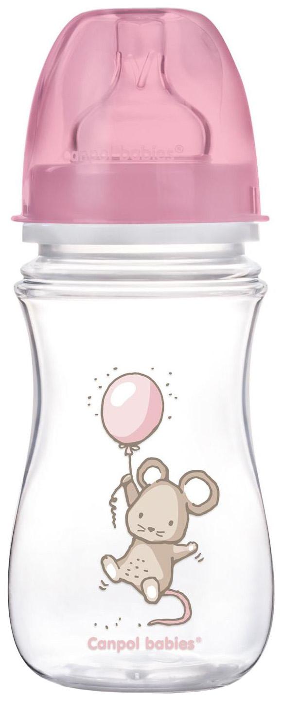Детская бутылочка Canpol Easy Start Little cuties Розовый 35/219 Chicco