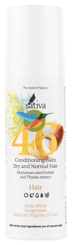 Купить Бальзам для волос Sativa Conditioning Balm Dry and Normal Hair №46 150 мл