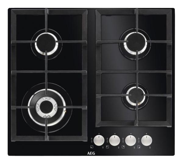 Встраиваемая варочная панель газовая AEG HKR64440NB Black