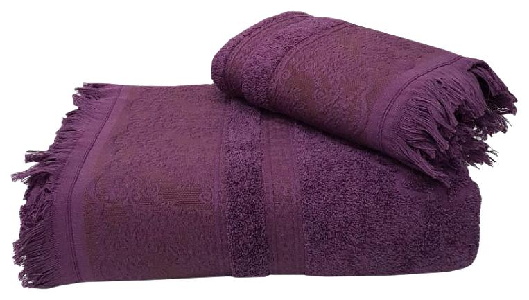 Банное полотенце, полотенце универсальное Nusa фиолетовый