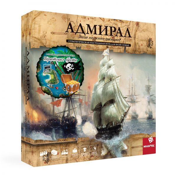 Настольная игра инаЧе Адмирал: эпоха парусных сражений + Пиратская бухта (третье издание) фото