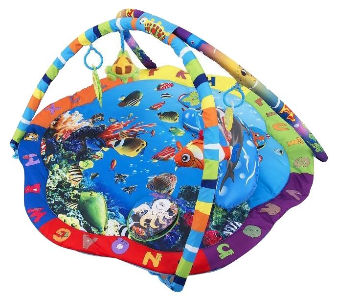Купить Развивающий коврик Leader Kids Подводный мир LK80701 с подвесными игрушками, Развивающие коврики и центры