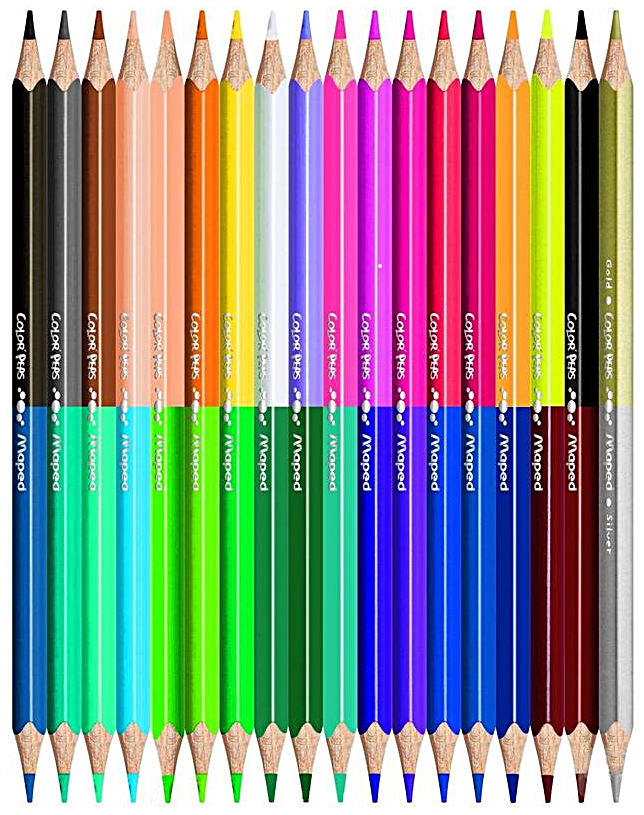 Карандаши цветные Maped Duo Color'Peps 829602 Двусторонние 48 цв, 24 шт., Цветные карандаши  - купить со скидкой