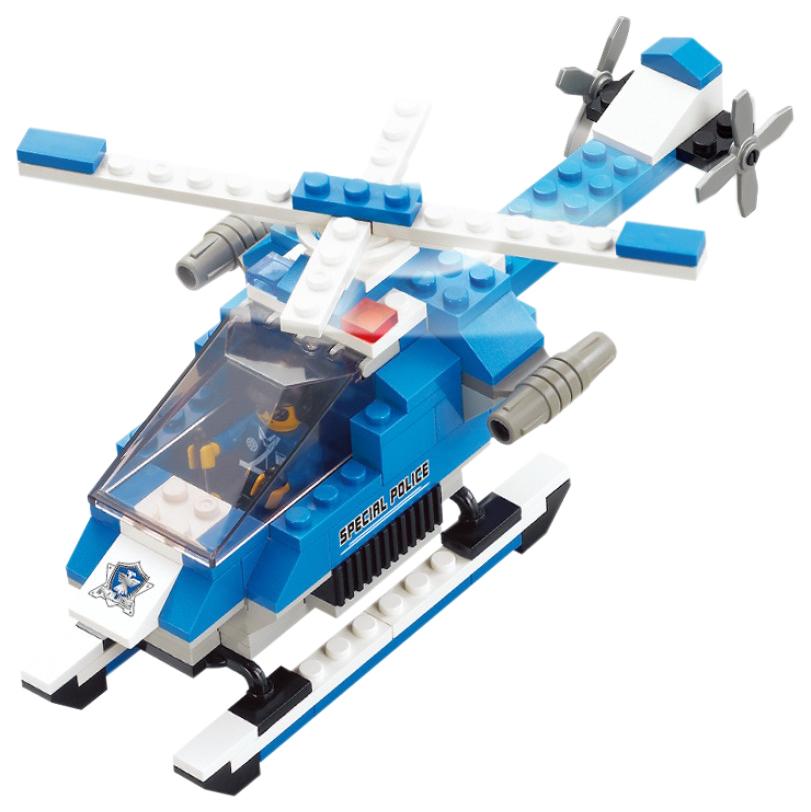 Конструктор пластиковый Sluban Полицейский Спецназ Вертолет с фигуркой, 133 Детали
