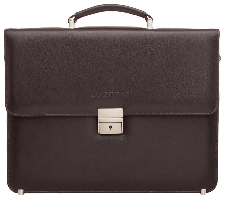 Портфель мужской кожаный Lakestone Braydon коричневый фото
