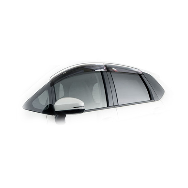 Дефлекторы на окна CA Plastic для Honda Fit 2014–н.в. полупрозрачный