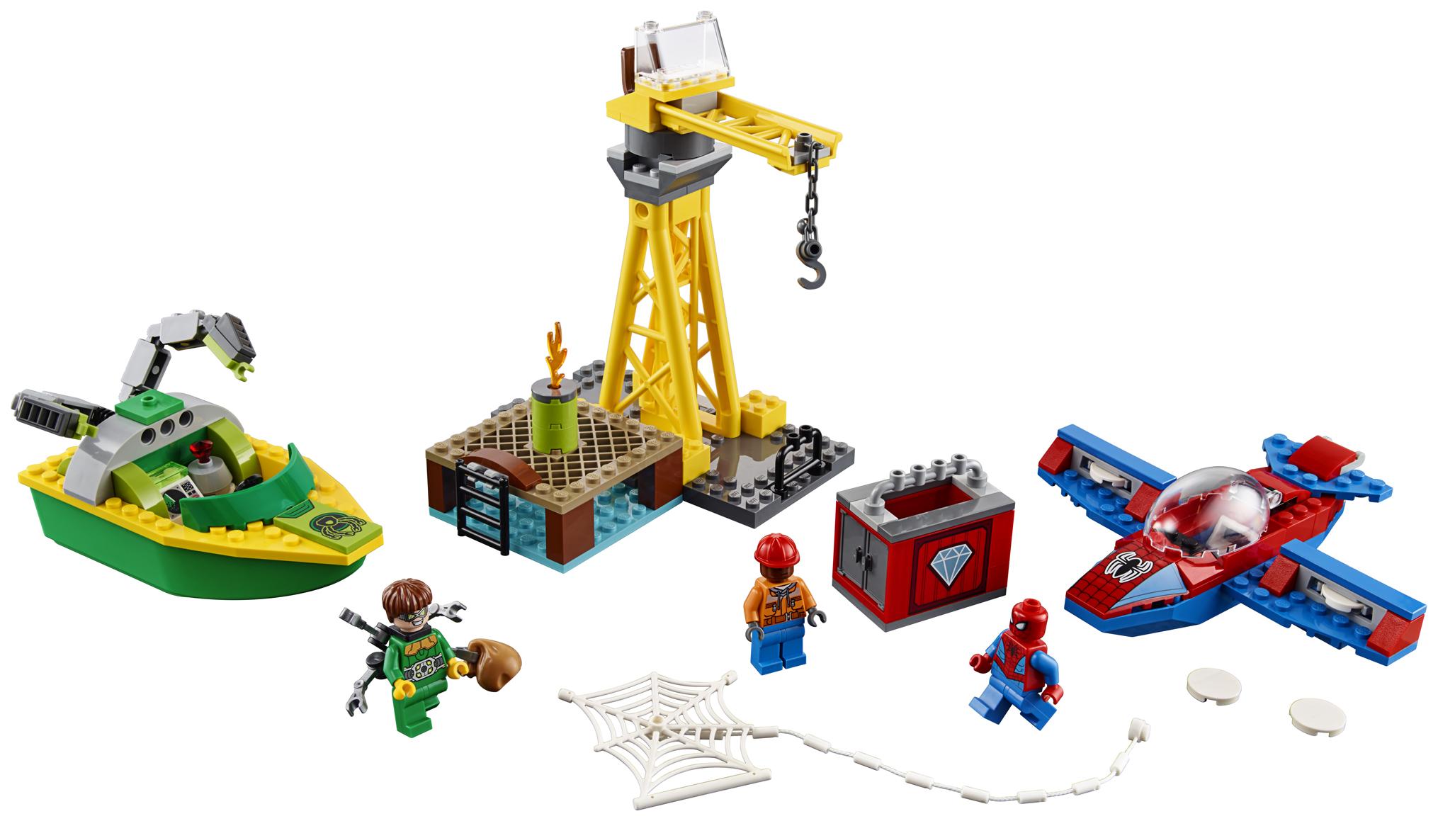 Конструктор LEGO Super Heroes Человек-паук похищение бриллиантов Доктором Осьминогом 76134