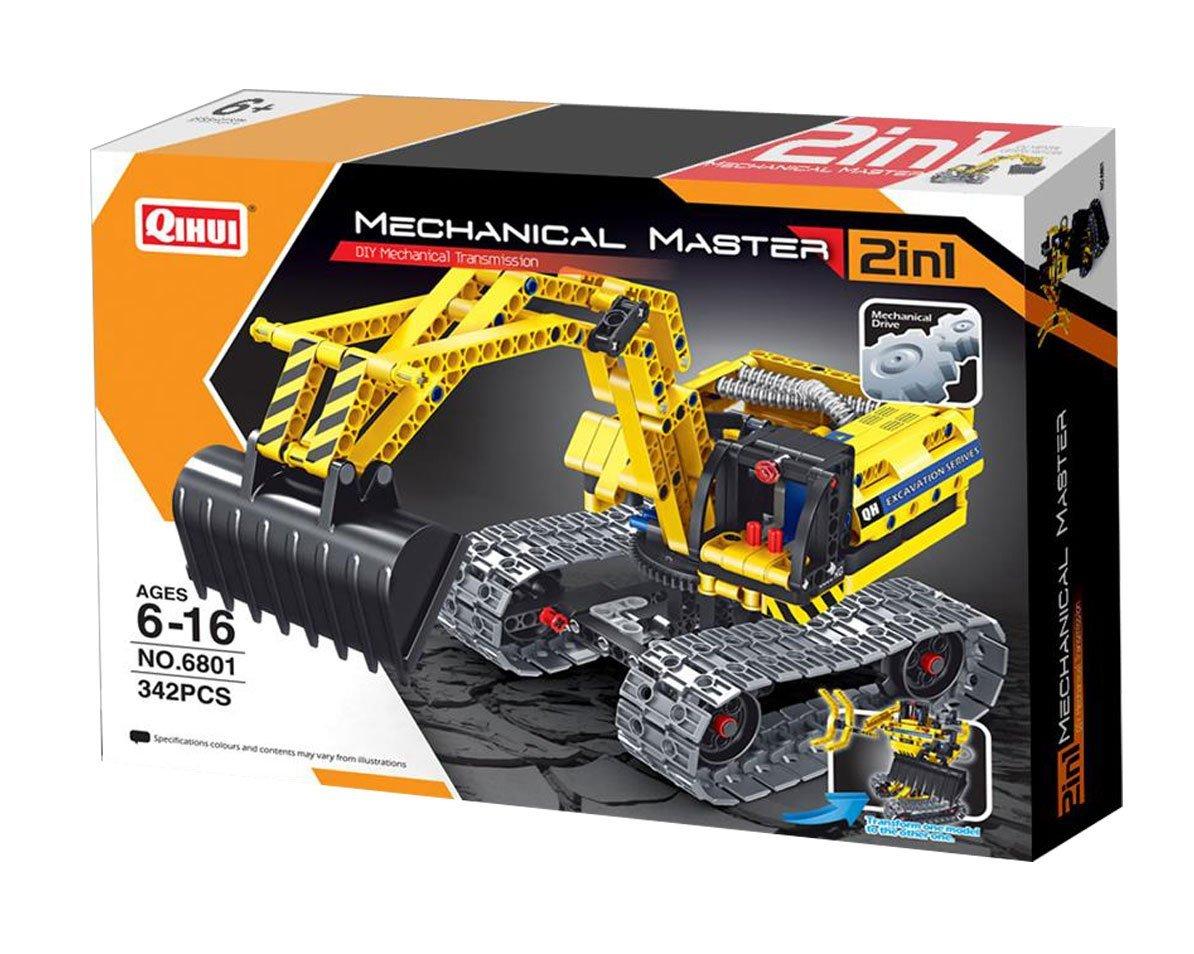 Купить Конструктор QiHui Экскаватор и робот 342 детали, Конструкторы пластмассовые
