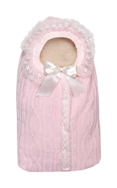 Конверт Зимняя Радость 1м розовый мех Сонный Гномик