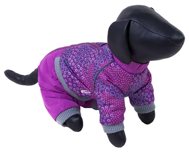 Комбинезон для собак Зоо Фортуна размер XL женский, фиолетовый, длина спины 40 см