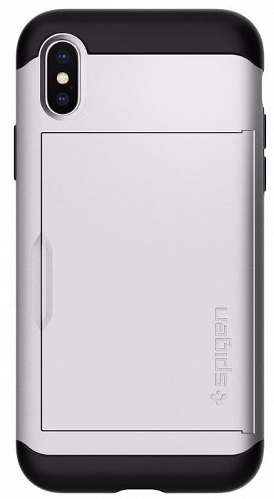 Чехол Spigen Slim Armor CS (057CS22158) для Apple iPhone X (Satin Silver)