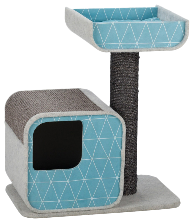 Комплекс для кошек TRIXIE, бежевый, голубой, 2 уровня