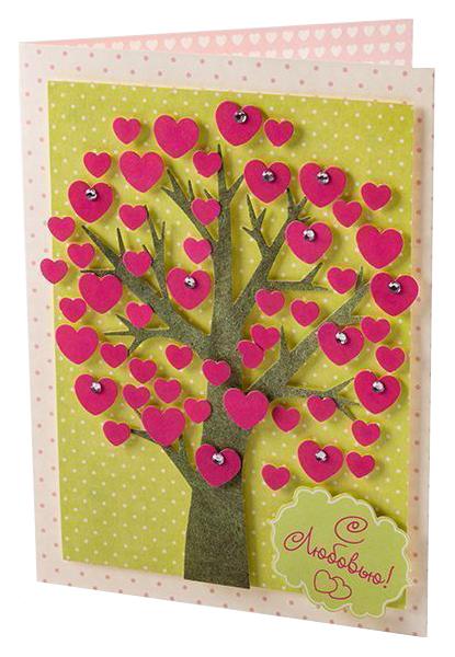 Купить Поделка Дрофа-Медиа Чудо-мастерская открытка Дерево, Рукоделие