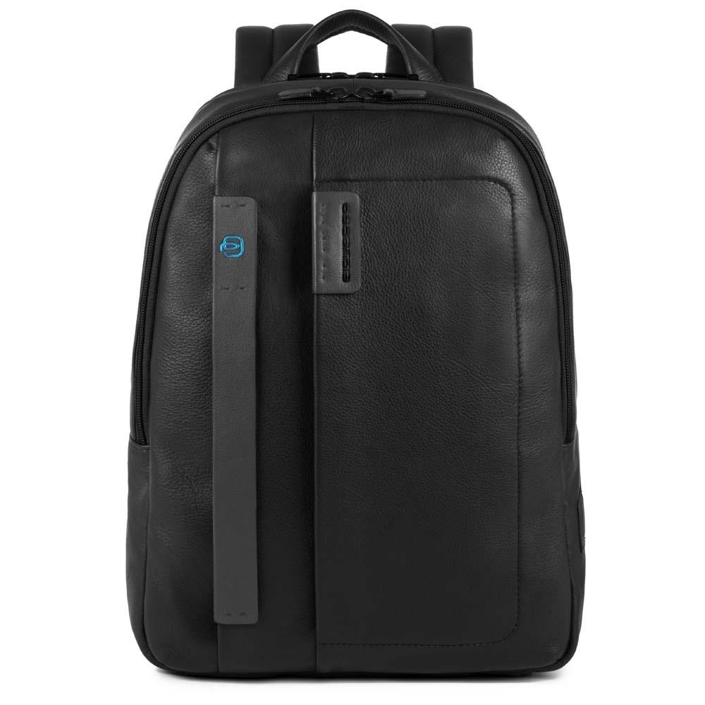 Рюкзак кожаный Piquadro черный