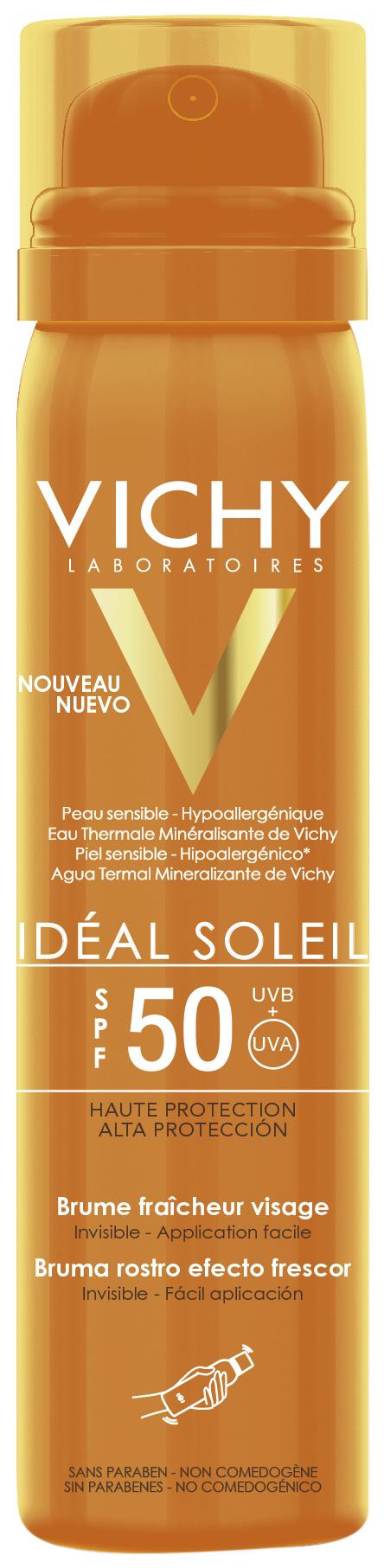 Купить Солнцезащитное средство Vichy Idéal Soleil Brume Fraicheur Visage SPF50 75 мл