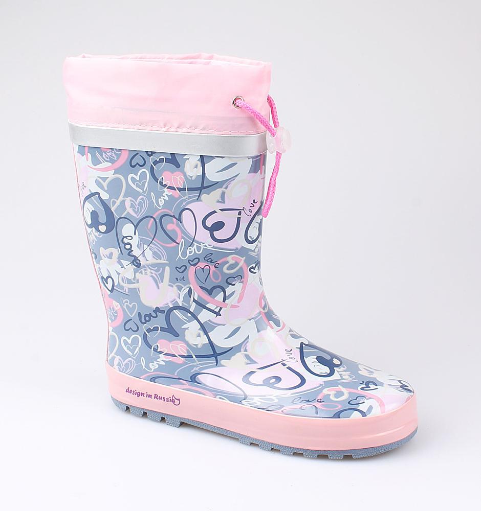 Резиновая обувь Котофей 566156-11 для девочек р.34