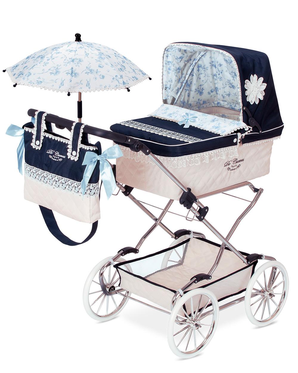 Купить Коляска для кукол DeCuevas с сумкой и зонтиком Романтик 90 см, Коляски для кукол