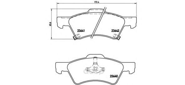 Тормозные колодки дисковые brembo P11015