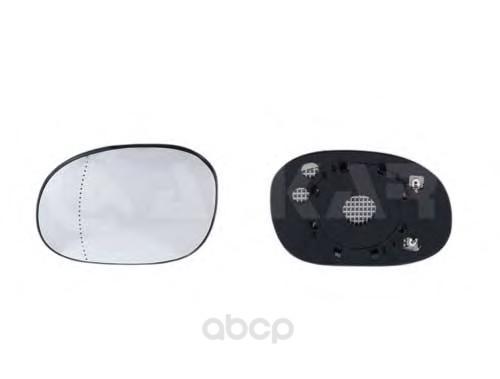Текло зеркала заднего вида правого Peugeot 206 98, Citroen Xsara Picasso 00 ALKAR 6432283