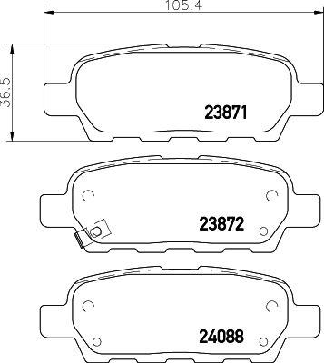 Комплект тормозных дисковых колодок MINTEX MDB2261 фото