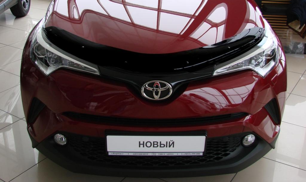 Дефлектор капота Toyota CH-R, 2016-, темный