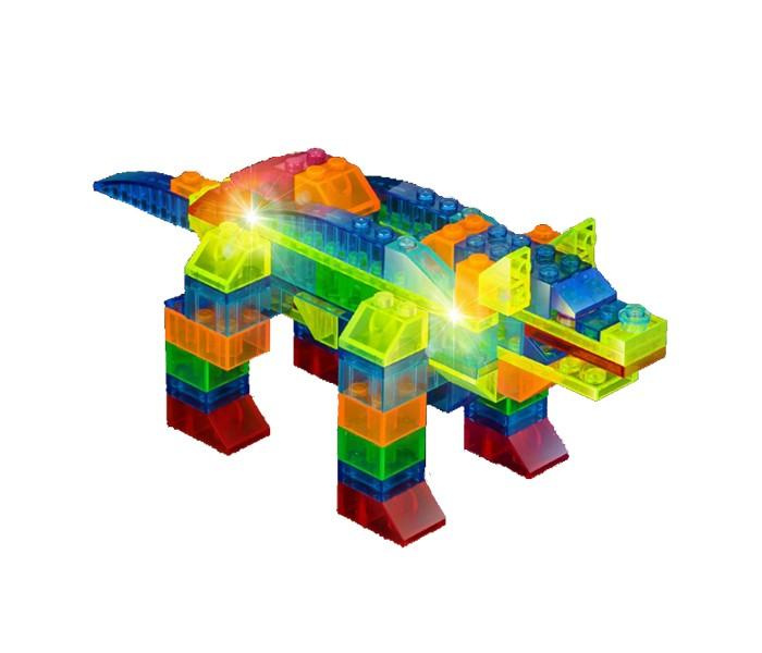 Купить Светящийся конструктор 6 в 1 Динозавр, 101 деталь, Crystaland, Конструкторы пластмассовые