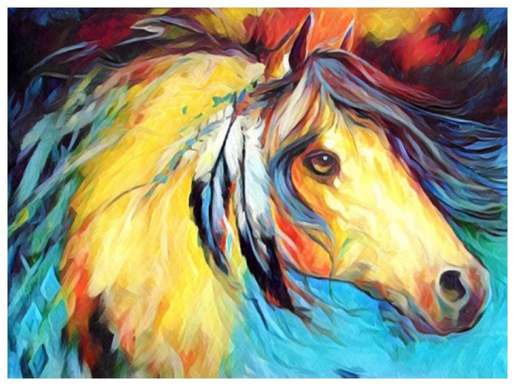 Поделка Color Kit Картина из пайеток Лошадь CME009