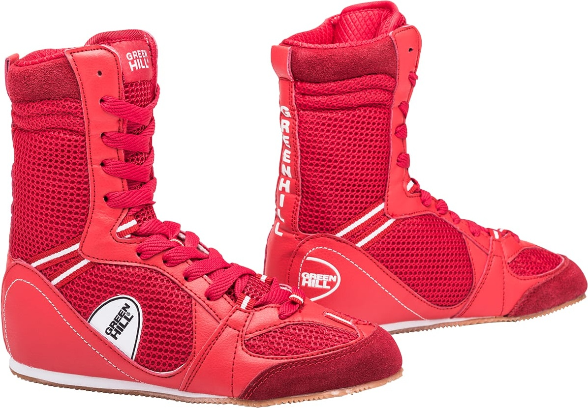 Обувь для бокса Green Hill PS005 высокая, красная
