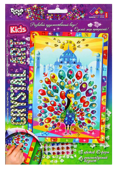 Купить Поделка Danko Toys Crystal Art Павлин Cart-01-06,