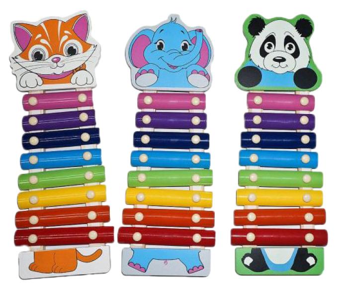 Ксилофон игрушечный Mapacha Веселые зверята 76628 в ассортименте