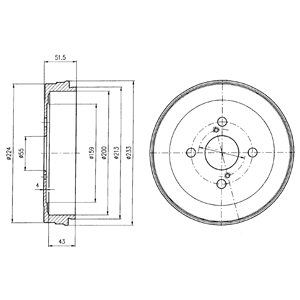 Тормозной барабан DELPHI BF411
