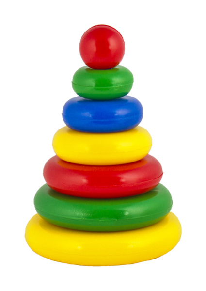 Купить Развивающая игрушка Десятое королевство Выдувка Пирамидка Малышок 01602ДК, Десятое Королевство, Пирамидки для детей