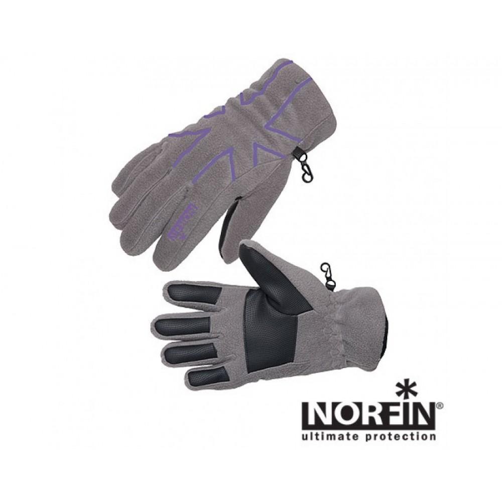 Перчатки женские Norfin Women Violet, серые/фиолетовые, L