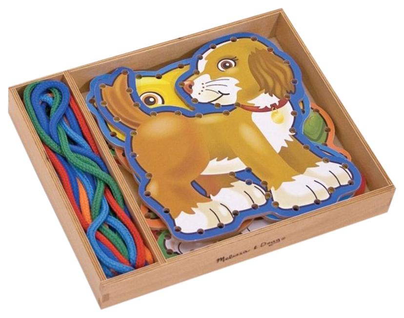 Купить Деревянная игрушка Melissa&doug Шнуровка Домашние животные, Melissa & Doug,
