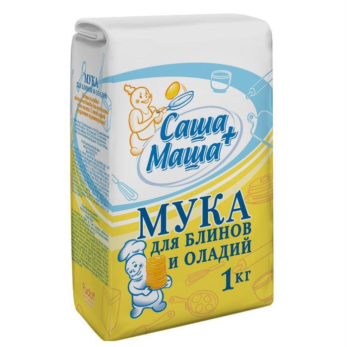 Мука для блинов и оладий Саша+Маша 1 кг