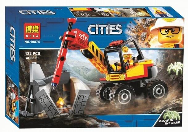 Купить Конструктор пластиковый BELA 10874 Трактор для горных работ, Конструкторы пластмассовые