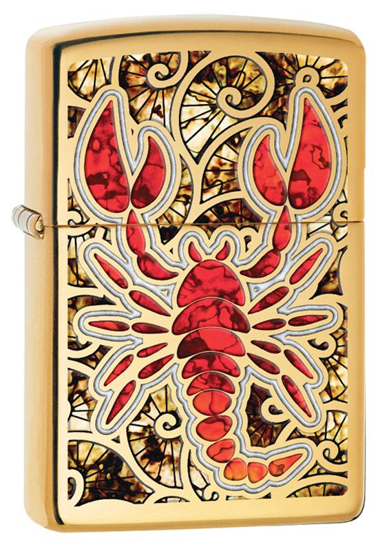 Зажигалка Zippo Fusion Scorpion High Polish Brass
