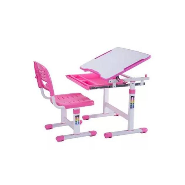 Комплект парта и стул Mealux EVO-06 белый, розовый,