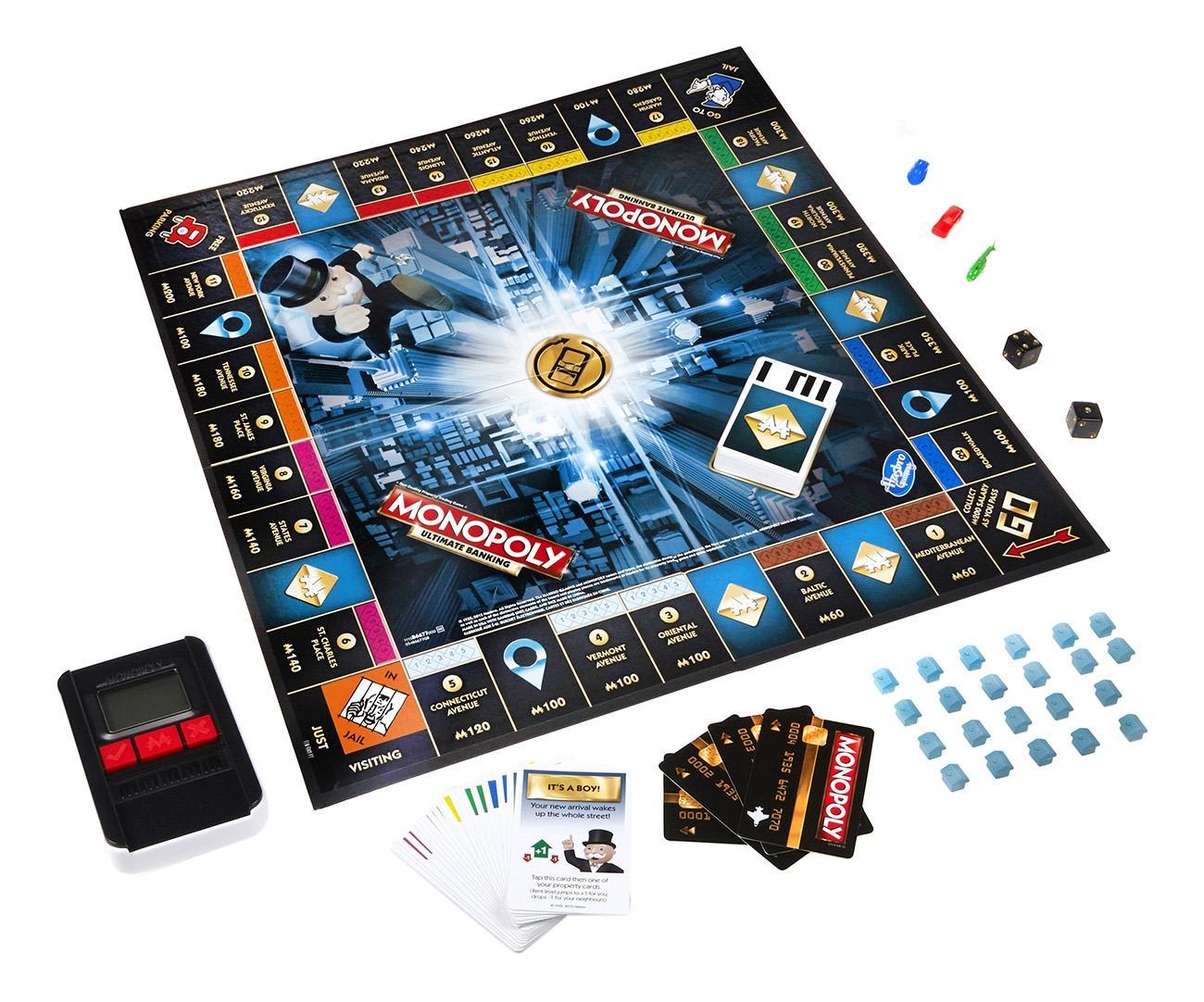 Купить Монополия с банковскими картами обновленная, Классическая настольная игра Монополия, Hasbro Games, Экономические настольные игры