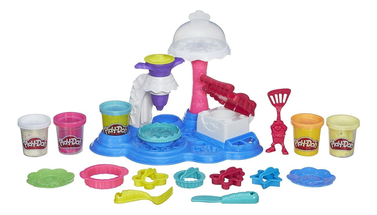 Купить Сладкая вечеринка, Набор для лепки из пластилина play-doh сладкая вечеринка b3399, Наборы для лепки Play-Doh