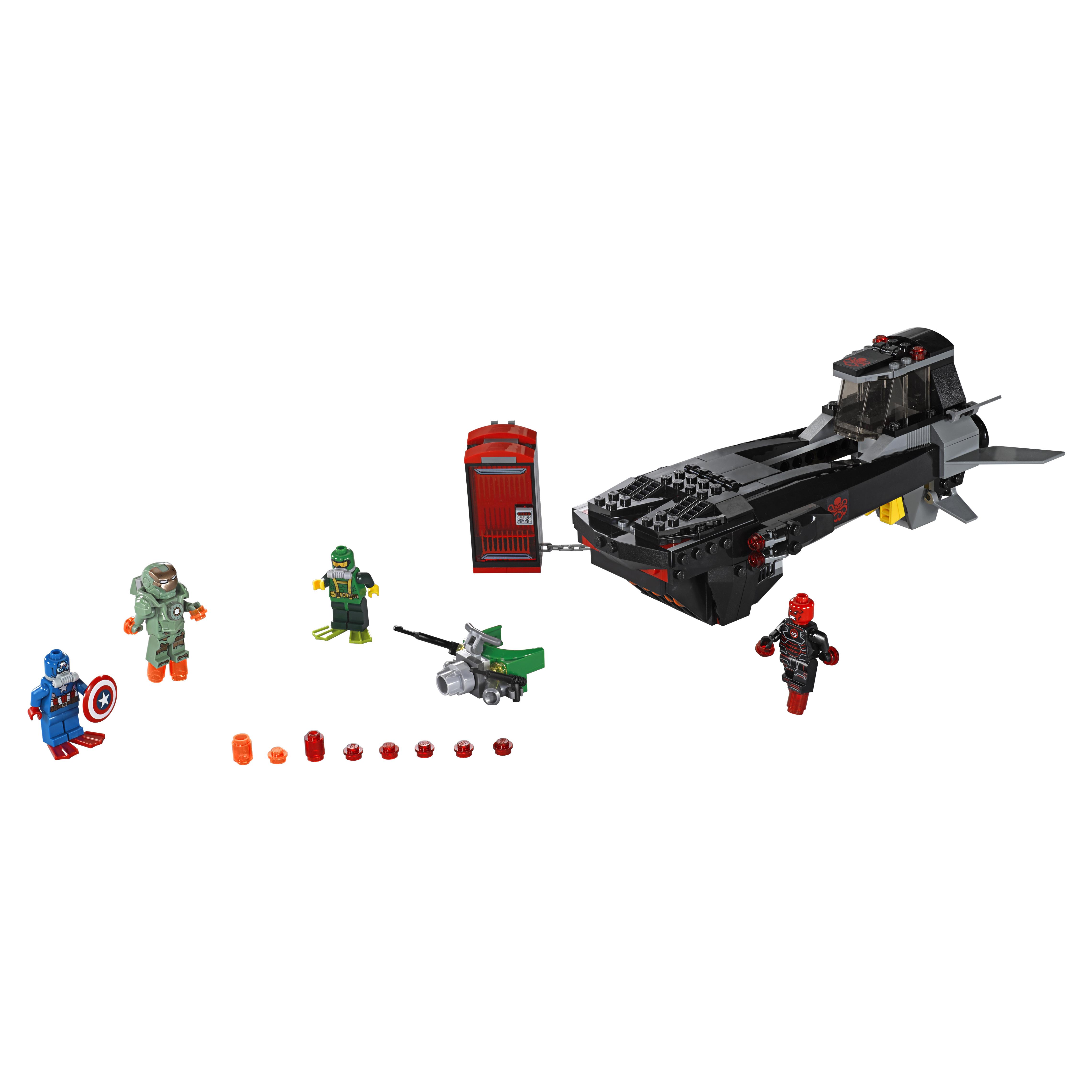 Конструктор LEGO Super Heroes Похищение Капитана Америка (76048) фото