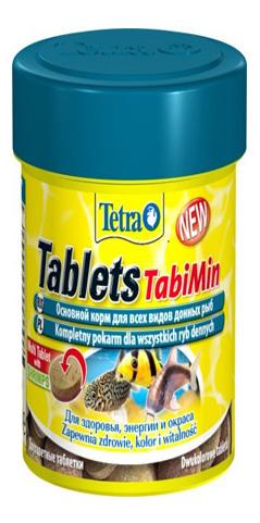 Корм для сомов и донных рыб Tetra Pleco Tab, со спирулиной, таблетки, 150 мл фото